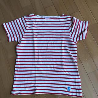 オーシバル(ORCIVAL)のオーチバルORCIVAL オーシバル ボーダーカットソー バスクシャツ赤半袖 (カットソー(半袖/袖なし))