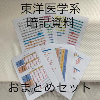 東洋医学系 暗記資料 おまとめセット(資格/検定)