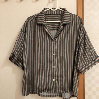 ティティベイト(titivate)のティティベイト ストライプオーバーシャツ(シャツ/ブラウス(半袖/袖なし))