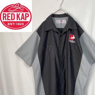 レッドキャップ 半袖 開襟ワークシャツ リップストップ(シャツ)