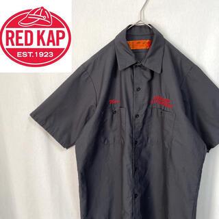 80's    レッドキャップ  半袖ワークシャツ 企業ロゴ(シャツ)