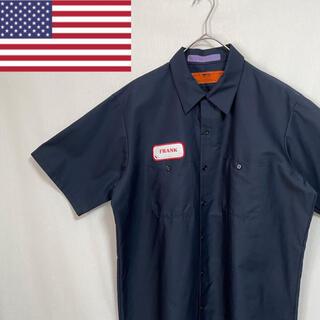80's    rus 半袖 ワークシャツ アメリカ製(シャツ)