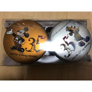 ディズニー(Disney)の新品未使用 ディズニーランド 35周年 缶 ミッキー ミニー レディース 記念品(キャラクターグッズ)