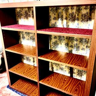 アンティーク調高級家具 飾り棚 整理棚 本棚 物置兼用↓↓↓必読(棚/ラック/タンス)
