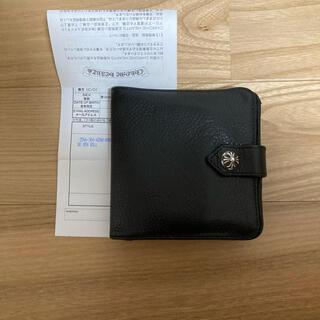 クロムハーツ(Chrome Hearts)の正規品 原本 インボイス クロムハーツ スクエアビルボタン ウォレット 財布(折り財布)