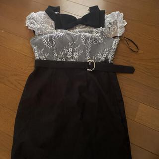 ジュエルズ(JEWELS)のレース 黒 ドレス 肩付き(ナイトドレス)