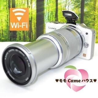 パナソニック(Panasonic)のルミックス GF3☆タッチ操作&望遠レンズセット♪1630(ミラーレス一眼)