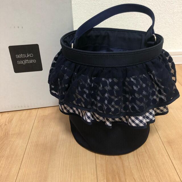セツコサジテール ピクニック ネイビー レディースのバッグ(ハンドバッグ)の商品写真