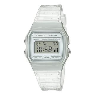CASIO - casio チープカシオ F91WS7 腕時計 スケルトン クリア 透明