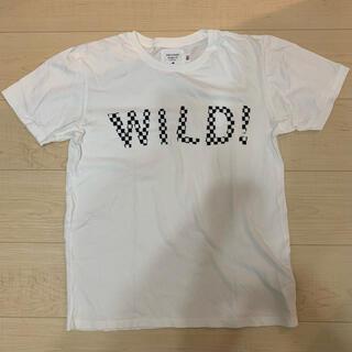 ロンハーマン(Ron Herman)のsalvage public Checker wild Tシャツ ホワイト S(Tシャツ/カットソー(半袖/袖なし))