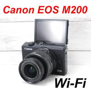 ニコン(Nikon)の❤️Wi-Fi搭載❤️自撮り❤️Canon EOS M200(ミラーレス一眼)
