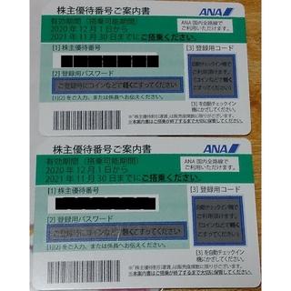 エーエヌエー(ゼンニッポンクウユ)(ANA(全日本空輸))のANA 株主優待2枚セット(航空券)