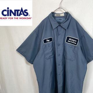 シンタス 半袖 ワークシャツ アメリカ製(シャツ)
