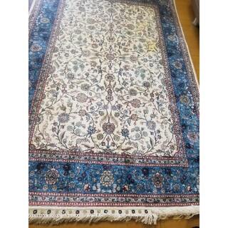 未使用トルコ購入♡トルコ製手織りシルク100%絨毯(カーペット)