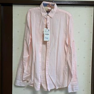 ザラ(ZARA)の新品 ZARA (ザラ) リラックスフィット ピンクシャツ(シャツ)