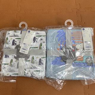 ジーユー(GU)の新品 GU スヌーピーパジャマ 半袖 140(パジャマ)