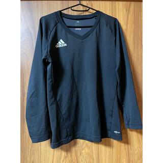 アディダス(adidas)のadidas Tシャツ 長袖 黒(Tシャツ/カットソー(七分/長袖))