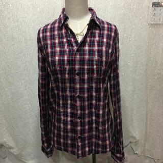 ザラ(ZARA)のAZUR赤チェックシャツ(シャツ/ブラウス(長袖/七分))