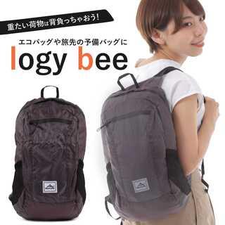 logy bee ブラック 折りたたみリュック 防水 エコバッグ 軽量(その他)