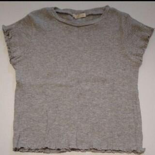 ジーユー(GU)の未使用 GU 110 フリルTシャツ(Tシャツ/カットソー)
