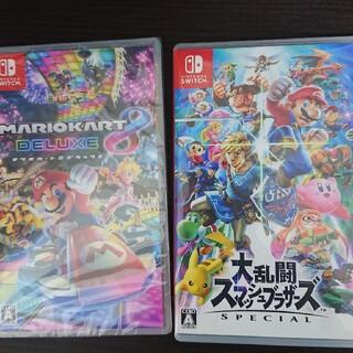 Nintendo Switch - 大乱闘スマッシュブラザースSPECIAL&マリオカート8デラックス中古品