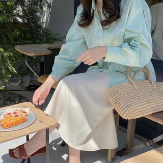 ディーホリック(dholic)のmood for a day ripple puff shirts/mint(シャツ/ブラウス(長袖/七分))