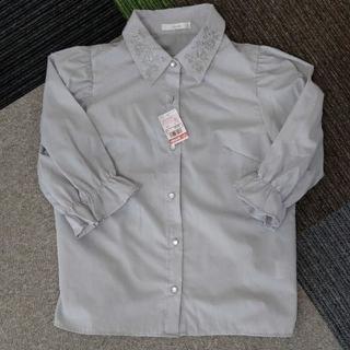 シマムラ(しまむら)の新品未使用タグ付き◆しまむら 襟刺繍ブラウス(シャツ/ブラウス(半袖/袖なし))