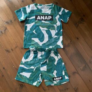 アナップキッズ(ANAP Kids)のANAP kids リーフ セットアップ(Tシャツ/カットソー)