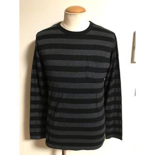 クーティー(COOTIE)の美品 COOTIE クーティー 長袖 ボーダー Tシャツ M 黒灰 xpv (Tシャツ/カットソー(七分/長袖))