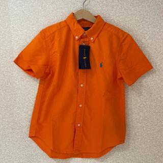 ラルフローレン(Ralph Lauren)のラルフローレン オレンジブラウス 130cm 新品タグ付き(ブラウス)