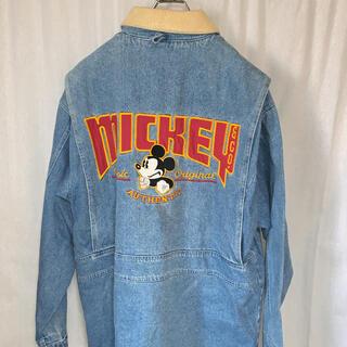 ディズニー ミッキー&Co ミッキー刺繍デニムジャケット ユニセックス