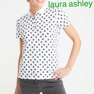 ローラアシュレイ(LAURA ASHLEY)の爽やか半袖ポロシャツ UKサイズ14(日本13)ローラアシュレイ   新品(Tシャツ(半袖/袖なし))