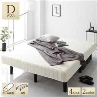 ベッド 脚付き マットレス ダブル ホワイト 通常丈ボンネルコイル (脚付きマットレスベッド)