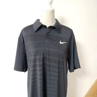 ナイキ(NIKE)の未使用 ナイキ ゴルフ ビッグサイズポロシャツ ブラック グレー XXL(ポロシャツ)