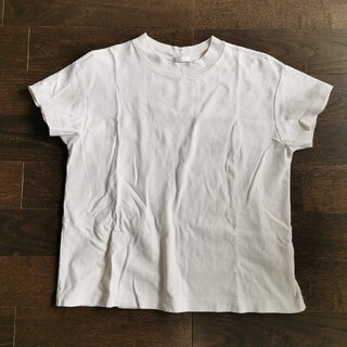 ジーユー(GU)のgu スムースTシャツ ナチュラル Lサイズ(Tシャツ(半袖/袖なし))