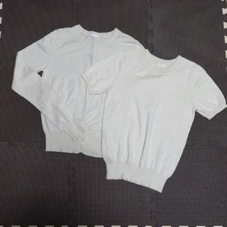 ジーユー(GU)のカーディガンと半袖2枚セットSサイズジーユー(セット/コーデ)