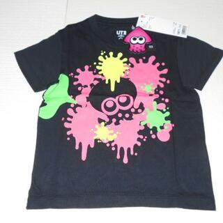 ユニクロ(UNIQLO)のUNIQLO スプラトゥーン 半袖Tシャツ ブラック 100サイズ(Tシャツ/カットソー)