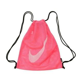 ナイキ(NIKE)のNIKE mesh drawstring pool bag ピンク(リュックサック)