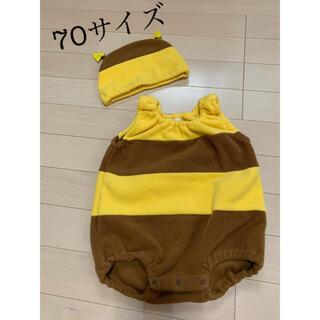 ニシマツヤ(西松屋)の西松屋 ハチさんロンパース 帽子付き 70サイズ(ロンパース)