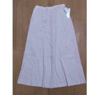 ジーユー(GU)のGU リネンブレンドフレアロングスカート ナチュラル XL 綺麗め おしやれ(ロングスカート)