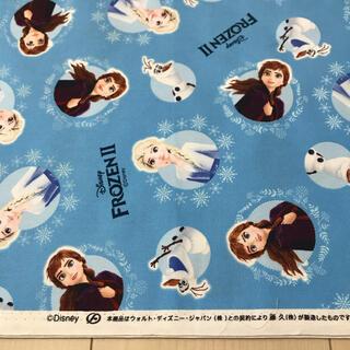 ディズニー(Disney)のアナ雪 オックス生地 80cm(生地/糸)