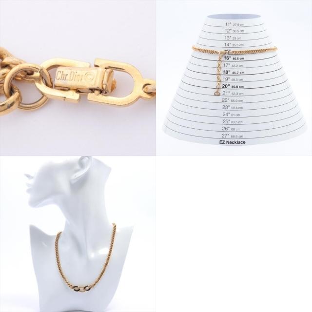 Christian Dior(クリスチャンディオール)のクリスチャンディオール  GP  ゴールド レディース ネックレス レディースのアクセサリー(ネックレス)の商品写真