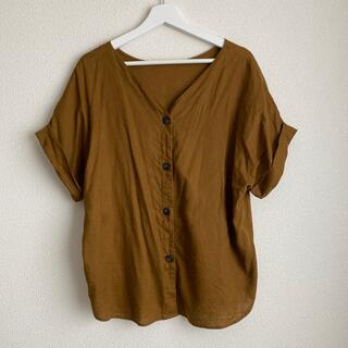 ジーユー(GU)のGU リネンシャツ(シャツ/ブラウス(半袖/袖なし))