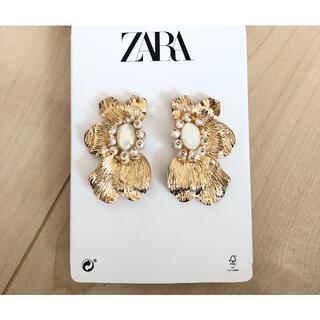 ザラ(ZARA)のZARA  ゴールドフラワーピアス 新品未使用 ザラ(ピアス)