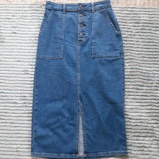 ジーユー(GU)のタイトジーンズスカート(ひざ丈スカート)