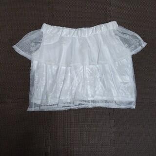 グレイル(GRL)のノースリーブ トップス グレイル ホワイト Mサイズ (カットソー(半袖/袖なし))