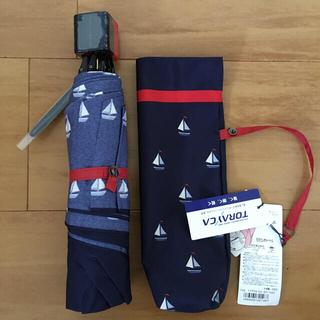ケイタマルヤマ(KEITA MARUYAMA TOKYO PARIS)の新品 未使用 ケイタマルヤマ 雨傘 折りたたみ ネイビー 日本製(傘)