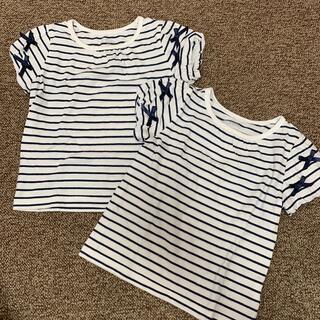 ニシマツヤ(西松屋)のボーダーTシャツ 100cm 2枚セット(Tシャツ/カットソー)