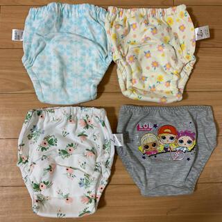 ニシマツヤ(西松屋)の4層トイレトレーニングパンツ3枚+キッズショーツ1枚 サイズ100(トレーニングパンツ)