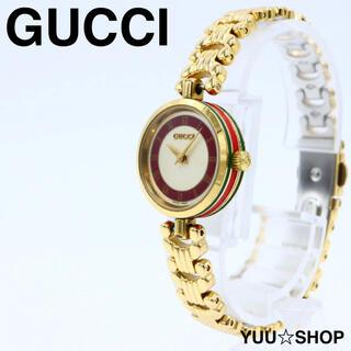 グッチ(Gucci)の人気【ブレス新品&電池新品】GUCCI ゴールド シェリー GG 腕時計 箱付(腕時計)